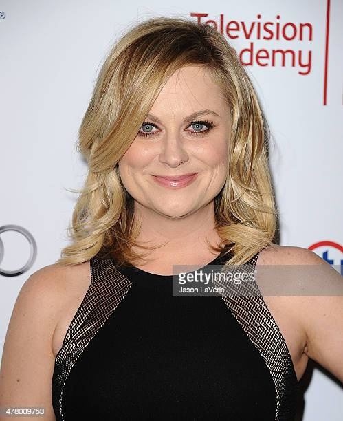Actress Amy Poehler attends the Television Academy's 23rd Hall of Fame induction gala at Regent Beverly Wilshire Hotel on March 11 2014 in Beverly...