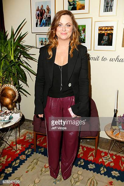Actress Amy Poehler poses in the green room at Glamour Women Of The Year 2016 at NeueHouse Hollywood on November 14 2016 in Los Angeles California