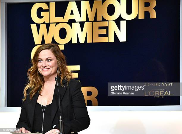 Actress Amy Poehler speaks onstage at Glamour Women Of The Year 2016 at NeueHouse Hollywood on November 14 2016 in Los Angeles California