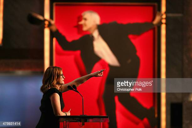 Actress Amy Poehler speaks onstage during the 2015 AFI Life Achievement Award Gala Tribute Honoring Steve Martin at the Dolby Theatre on June 4 2015...