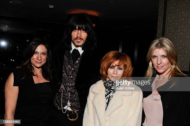 Actress Amy Povich recording artist JD King Linda Ramone and Nina Oberfeld attend Celebration Honoring The Publication Of The End Of Illness By Dr...
