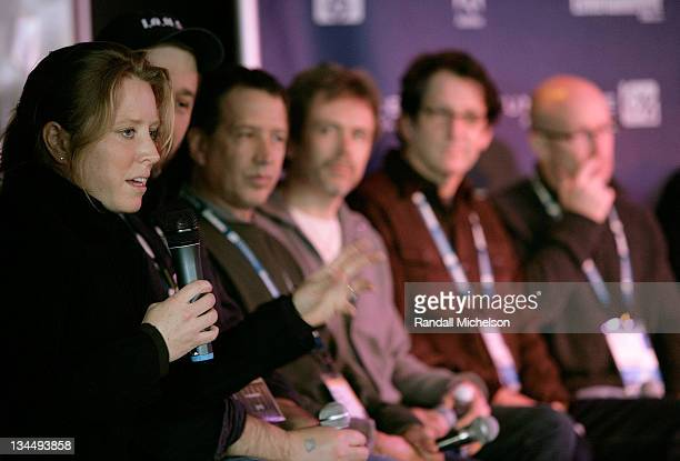 Actress Amy Redford director Patrick Creadon composer Peter Golub composer John Frizzell composer David Schwartz and director/producer Alex Gibney on...