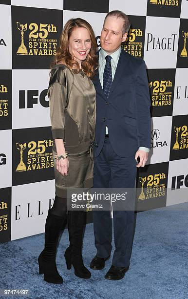 Actress Amy Ryan and Eric Slovin arrives at the 25th Film Independent Spirit Awards held at Nokia Theatre LA Live on March 5 2010 in Los Angeles...