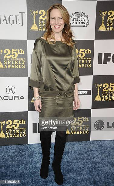 Actress Amy Ryan arrives at the 25th Film Independent Spirit Awards held at Nokia Theatre LA Live on March 5 2010 in Los Angeles California