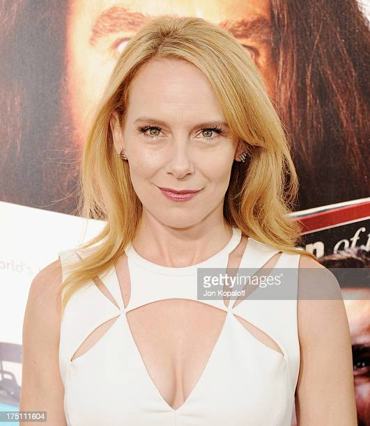 Actress Amy Ryan arrives at the Los Angeles Premiere of HBO's New Series Clear History at ArcLight Cinemas Cinerama Dome on July 31 2013 in Hollywood...
