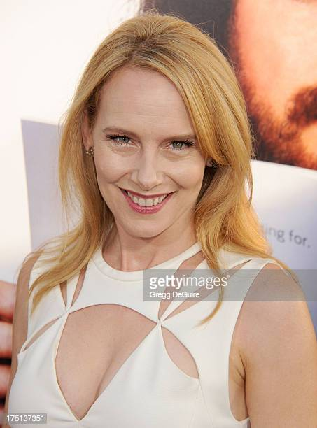 Actress Amy Ryan arrives at the Los Angeles premiere of HBO's new series 'Clear History' at ArcLight Cinemas Cinerama Dome on July 31 2013 in...