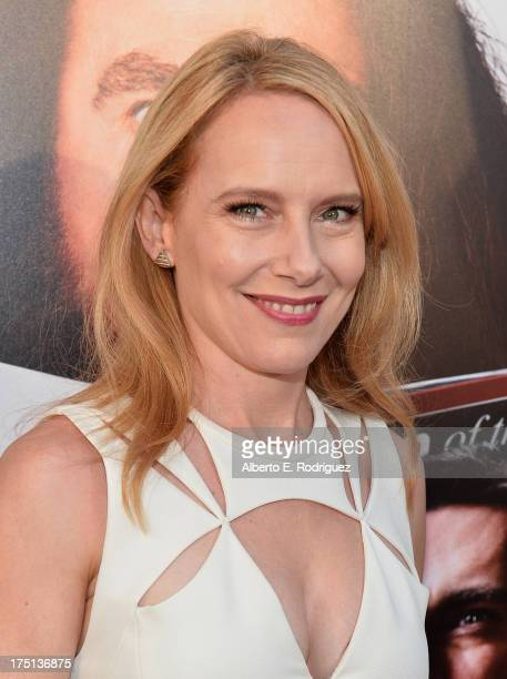 Actress Amy Ryan arrives to the premiere of HBO Films' 'Clear History' at ArcLight Cinemas Cinerama Dome on July 31 2013 in Hollywood California