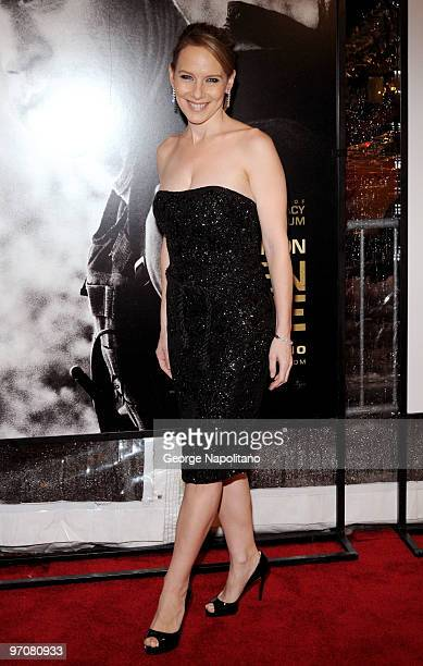 Actress Amy Ryan attends a screening of 'Green Zone' hosted by the Cinema Society Universal Pictures and Working Title Films at the AMC Loews Lincoln...