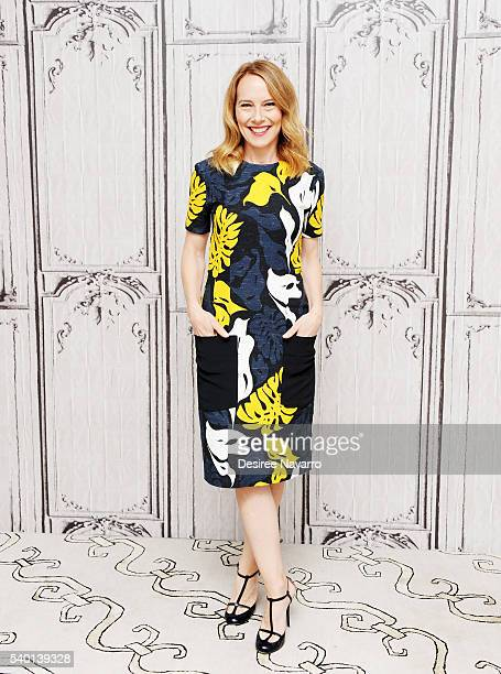 Actress Amy Ryan attends AOL Build Speaker Series 'Central Intelligence' at AOL Studios In New York on June 14 2016 in New York City