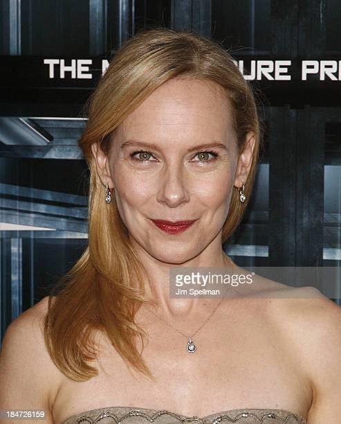 Actress Amy Ryan attends Escape Plan New York Premiere at Regal EWalk on October 15 2013 in New York City