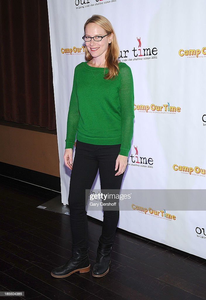 Actress Amy Ryan attends the Paul Rudd 2nd Annual All-Star Bowling Benefit supporting Our Time at Lucky Strike on October 21, 2013 in New York City.
