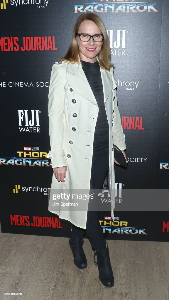Actress Amy Ryan attends the screening of Marvel Studios' 'Thor: Ragnarok' hosted by The Cinema Society with FIJI Water, Men's Journal and Synchrony at the Whitby Hotel on October 30, 2017 in New York City.