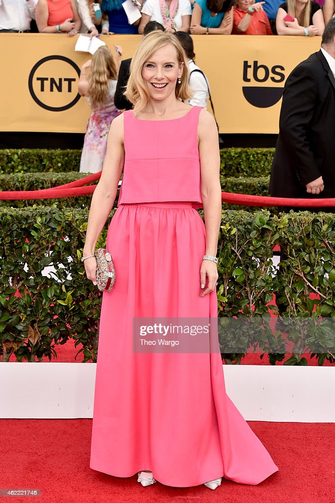 Actress Amy Ryan attends TNT's 21st Annual Screen Actors Guild Awards at The Shrine Auditorium on January 25, 2015 in Los Angeles, California. 25184_018