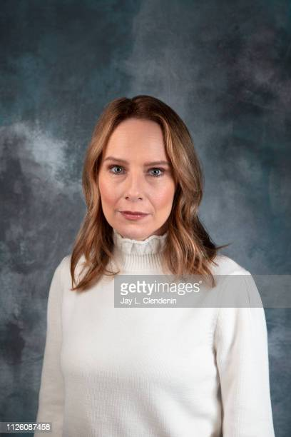 Actress Amy Ryan from 'Late Night' is photographed for Los Angeles Times on January 26 2019 at the 2019 Sundance Film Festival in Salt Lake City Utah...