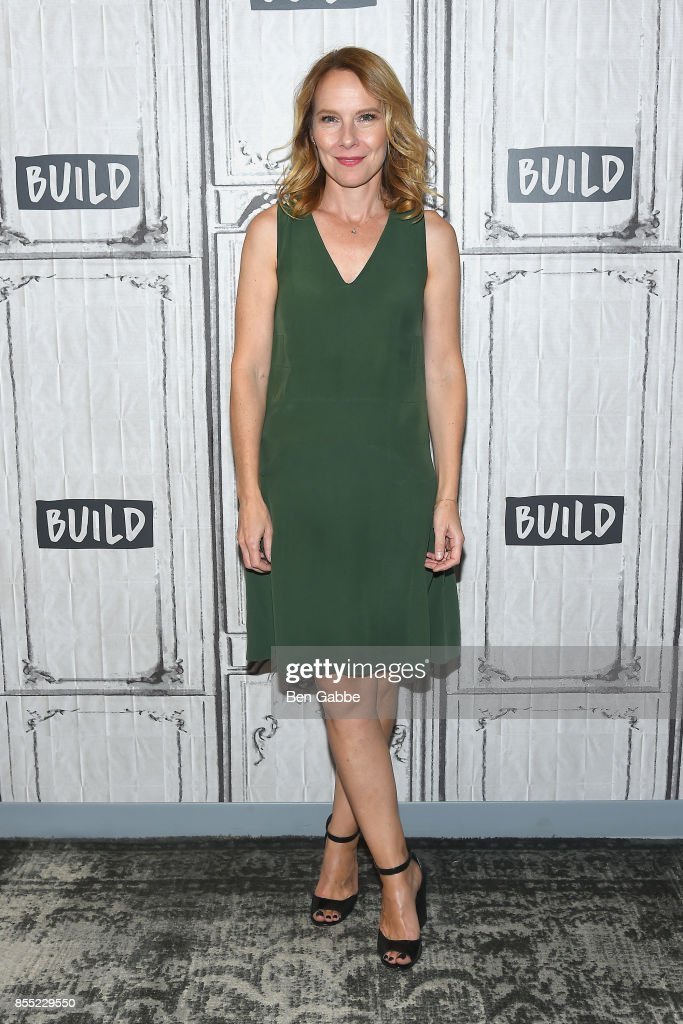Actress Amy Ryan visits the Build Studio to discuss the new film 'Abundant Acreage Available' at Build Studio on September 28, 2017 in New York City.