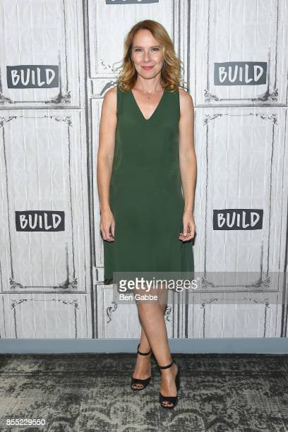 Actress Amy Ryan visits the Build Studio to discuss the new film 'Abundant Acreage Available' at Build Studio on September 28 2017 in New York City