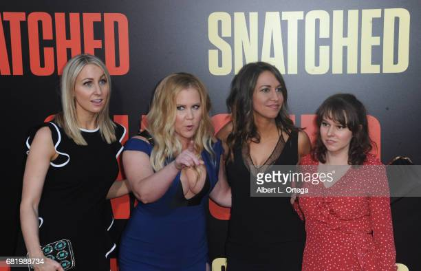 Actress Amy Schumer and guests arrive for the Premiere Of 20th Century Fox's Snatched held at Regency Village Theatre on May 10 2017 in Westwood...