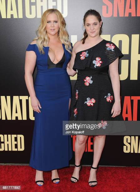 Actress Amy Schumer and sister Kimberly Schumer arrive at the Los Angeles Premiere 'Snatched' at Regency Village Theatre on May 10 2017 in Westwood...