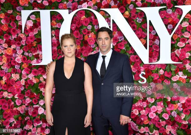 US actress Amy Schumer and US chef Chris Fischer attend the 2018 Tony Awards Red Carpet at Radio City Music Hall in New York City on June 10 2018