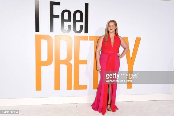 Actress Amy Schumer arrives at the premiere of STX Films' 'I Feel Pretty' at Westwood Village Theatre on April 17, 2018 in Westwood, California.