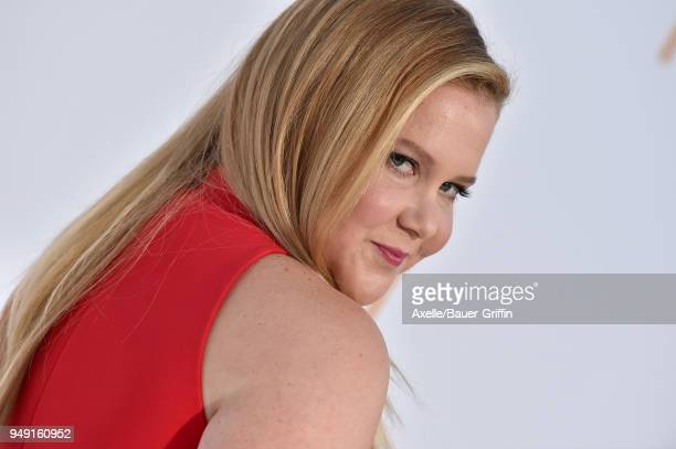Actress Amy Schumer arrives at the premiere of STX Films' 'I Feel Pretty' at Westwood Village Theatre on April 17 2018 in Westwood California