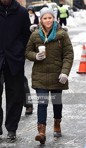 Actress Amy Schumer on the set of on 'Inside Amy Schume' on January 25 2016 in New York City