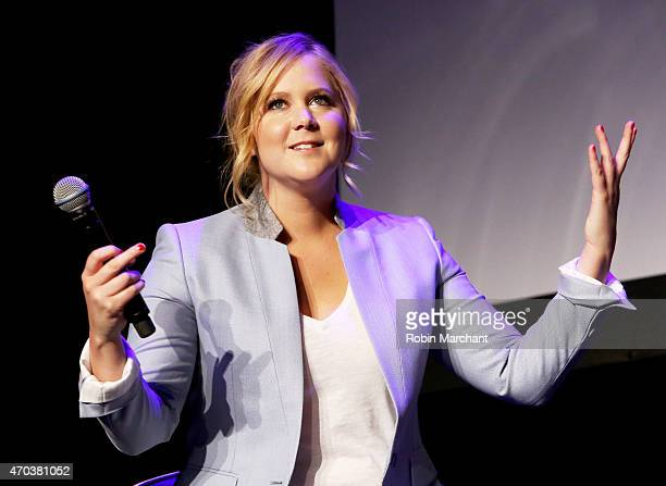 Actress Amy Schumer speaks at Tribeca Talks After the Movie Inside Amy Schumer during the 2015 Tribeca Film Festival at Spring Studio on April 19...