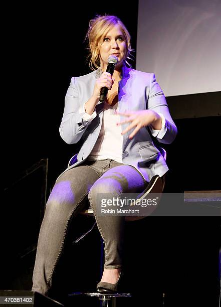 Actress Amy Schumer speaks at Tribeca Talks: After the Movie: Inside Amy Schumer during the 2015 Tribeca Film Festival at Spring Studio on April 19,...