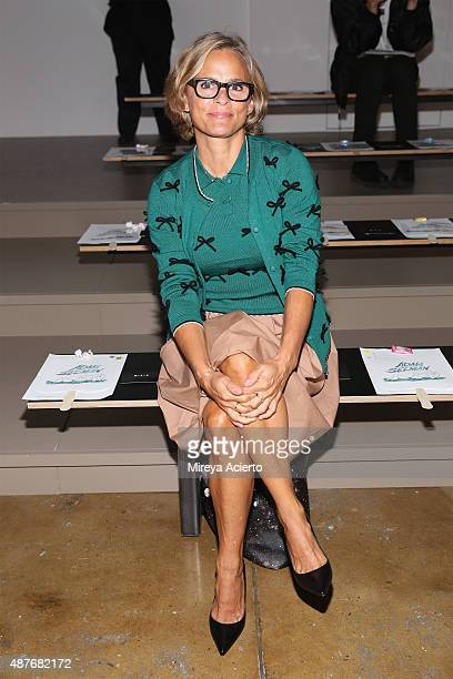 Actress Amy Sedaris attends the Adam Selman fashion show during Spring 2016 MADE Fashion Week at Milk Studios on September 10 2015 in New York City