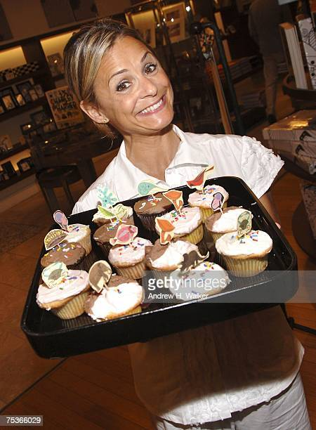Actress Amy Sedaris hosts Todd Oldham's book signing and shows off her cupcakes at Barneys New York on July 11 2007 in New York City