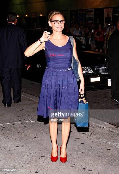 Actress Amy Sedaris seen on the streets of Manhattan on August 25 2008 in New York City