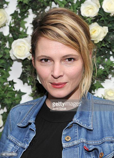 Actress Amy Seimetz arrives at Lynn Hirschberg celebrates W's It Girls with Lancome and Dom Perignon at AOC on January 11 2014 in Los Angeles...