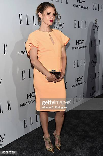 Actress Amy Seimetz attends ELLE's 6th Annual Women in Television Dinner Presented by Hearts on Fire Diamonds and Olay at Sunset Tower on January 20...