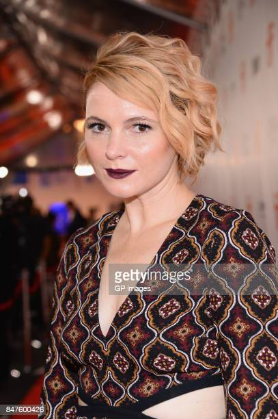 Actress Amy Seimetz attends the 'My Days Of Mercy' premiere during the 2017 Toronto International Film Festival at Roy Thomson Hall on September 15...