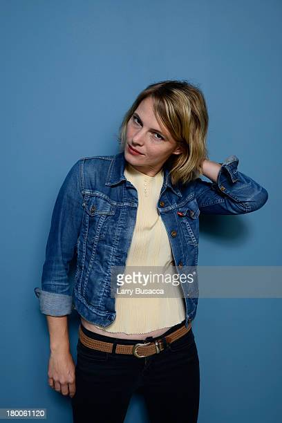 Actress Amy Seimetz of 'The Sacrament' poses at the Guess Portrait Studio during 2013 Toronto International Film Festival on September 8 2013 in...