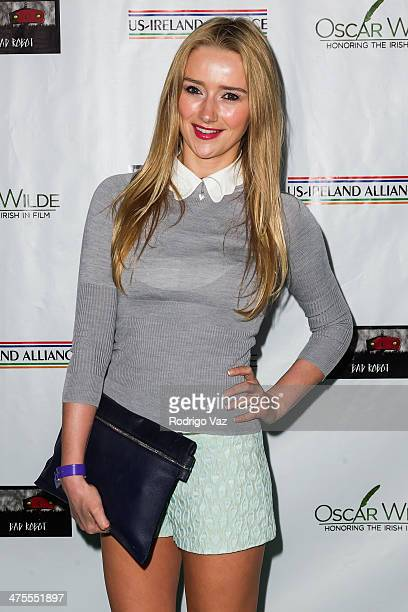 Actress Amy Shiels attends the US-Ireland Alliance Pre-Academy Awards Event Honoring Conan O'Brien and Chad Hurley at Bad Robot on February 27, 2014...