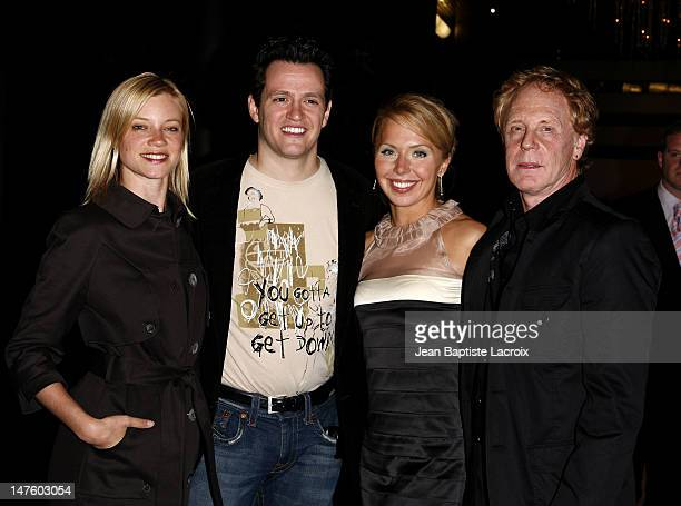 Actress Amy Smart actor Tom Malloy actress Nicola Royston and director Robert Iscove arrive at the special screening of Love n' Dancing held at the...