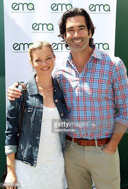 Actress Amy Smart and Carter Oosterhouse attend The Environmental Media Association firstever Sustainable Earth Month Celebration in honor of...