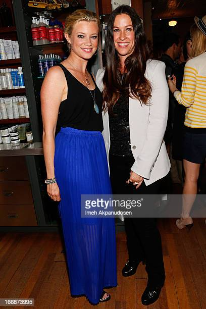 Actress Amy Smart and singer/songwriter Alanis Morissette attend Kiehl's launch of an Environmental Partnership Benefiting Recycle Across America at...