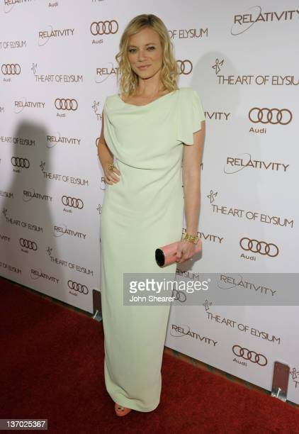 Actress Amy Smart arrives at Audi presents The Art of Elysium's 5th annual HEAVEN at Union Station on January 14 2012 in Los Angeles California