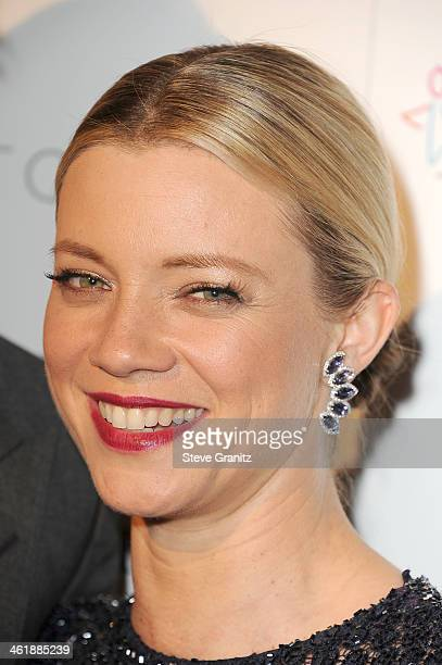 Actress Amy Smart arrives at The Art of Elysium's 7th Annual HEAVEN Gala presented by MercedesBenz at Skirball Cultural Center on January 11 2014 in...