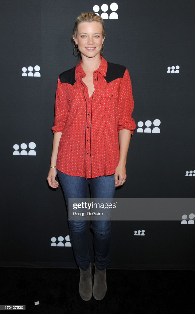 Actress Amy Smart arrives at the Myspace event at El Rey Theatre on June 12, 2013 in Los Angeles, California.