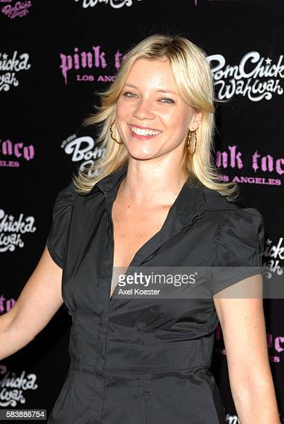 Actress Amy Smart arrives to the opening of Harry Morton's Pink Taco restaurant in the Westfield Century City Mall