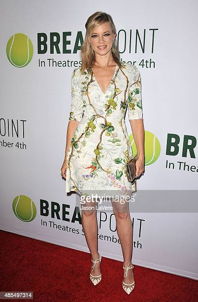Actress Amy Smart attends a screening of 'Break Point' at TCL Chinese 6 Theatres on August 27 2015 in Hollywood California