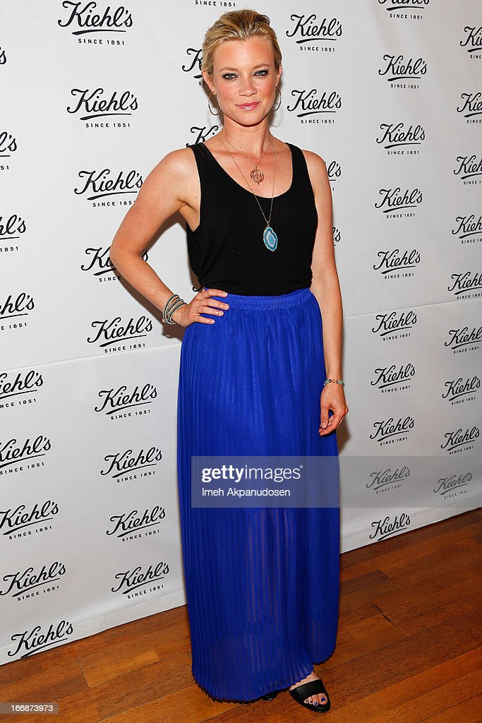Actress Amy Smart attends Kiehl's launch of an Environmental Partnership Benefiting Recycle Across America at Kiehl's Since 1851 Santa Monica Store on April 17, 2013 in Santa Monica, California.