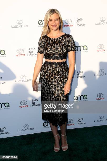 Actress Amy Smart attends the 27th Annual EMA Awards at Barker Hangar on September 23 2017 in Santa Monica California