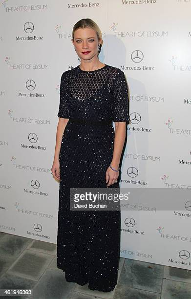Actress Amy Smart attends The Art Of Elysium's 7th Annual HEAVEN Gala Presented By MercedesBenz on January 11 2014 in Los Angeles California
