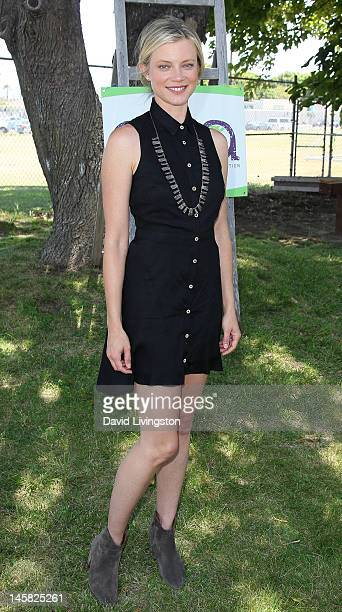 Actress Amy Smart attends the Environmental Media Association's 3rd Annual Garden Luncheon at Carson Senior High School on June 6 2012 in Carson...
