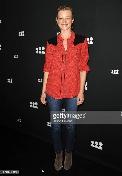 Actress Amy Smart attends the Myspace artist showcase event at El Rey Theatre on June 12 2013 in Los Angeles California