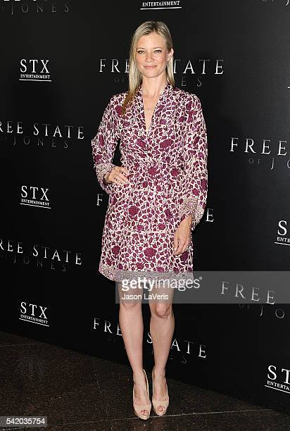 Actress Amy Smart attends the premiere of Free State of Jones at DGA Theater on June 21 2016 in Los Angeles California